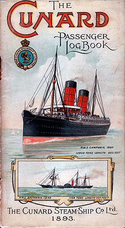 The Cunard Passenger Log Book - 1893