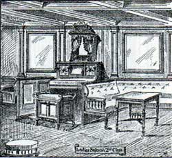 Ladies Saloon - Second Class