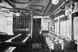 Pantry on the Cunard Campania