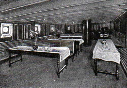 Third Class Smoking Room, R.M.S. Ivernia of the Cunard Line