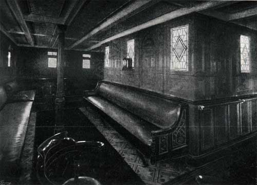 "FIRST CABIN LOUNGE, STEAMSHIP ""NEW ENGLAND."""