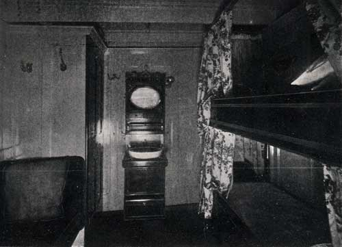 "FIRST CABIN STATEROOM, STEAMSHIP "" NEW ENGLAND."""