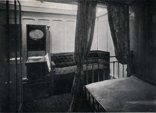 "FIRST CABIN STATEROOM ""A.,"" PROMENADE DECK, STEAMSHIP "" NEW ENGLAND."""