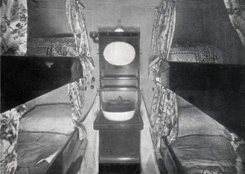 "SECOND CABIN STATEROOM, STEAMSHIP ""NEW ENGLAND."""