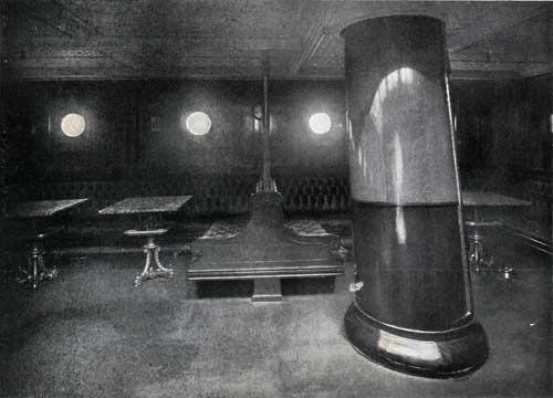 "SECOND CABIN SMOKING ROOM, STEAMSHIP ""NEW ENGLAND."""