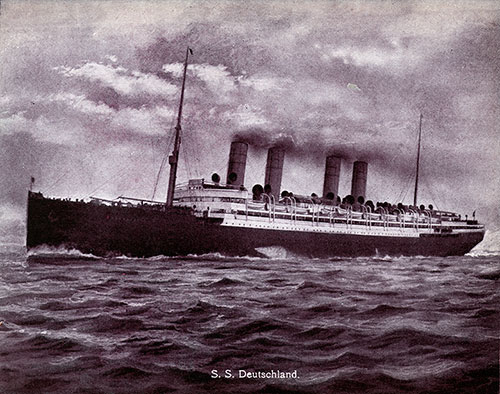 The S.S. Deutschland of the Hamburg-American Line