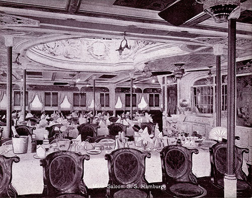 Main Saloon - S.S. Hamburg