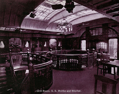 Grill Room - S.S. Moltke and Blücher