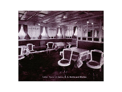 Ladies' Parlor - Second Cabin of the S.S. Moltke and Blücher