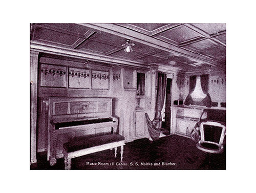Music Room - Second Cabin of the S.S. Moltke and Blücher