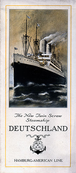 The New Twin Screw Steamship Deutschland (1924)