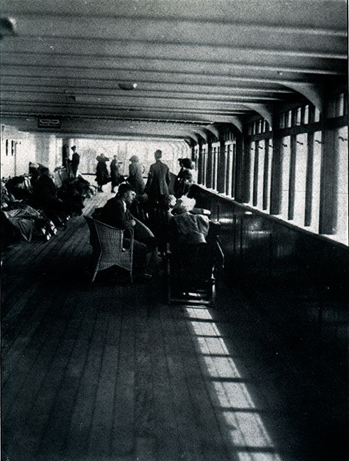 Promenade Deck for First Class Passengers