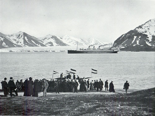 Photo 069: The S.S. Auguste Victoria in the harbor at Bell Sund, Spitsbergen