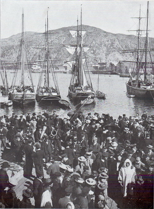 Photo 063: A Band Concert at the Pier at Hammerfest Harbor draws a large crowd