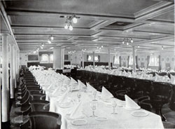 Photo 022: First Class Dining Salon on the SS Meteor