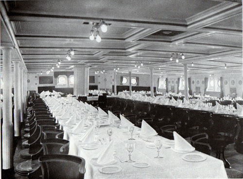Photo 022: First Class Dining Salon on the S.S. Meteor