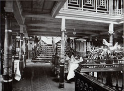 Photo 016: Part of the Upper Dining Hall on the SS Oceana