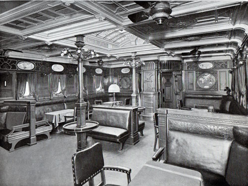 Photo 009: Smoking Room on the S.S. Prinzessin Victoria Luise