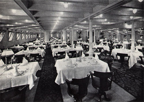 First Class Dining Room on the S.S. Niew Amsterdam