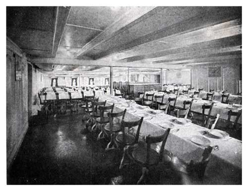 Third Class Dining Room - Norwegian-America Line Steamer