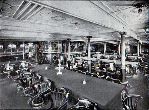 First Cabin Dining Room, SS. Oscar II, Hellig Olav and United States