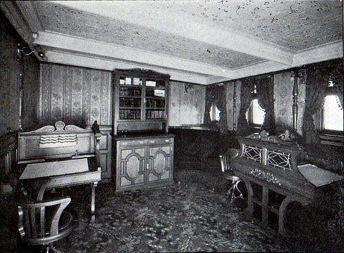 First Cabin Writing Room on the Oscar II and Helig Olav of the Scandinavian American Line