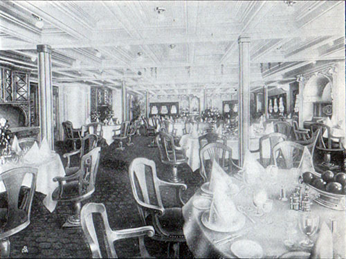 First Cabin Dining Room, S.S. Frederik VIII