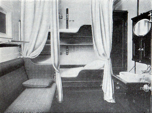 First Cabin Two Berthed Stateroom, S.S. Frederik VIII