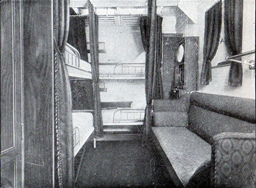 Second Cabin Four Berthed Stateroom, S.S. Frederik VIII