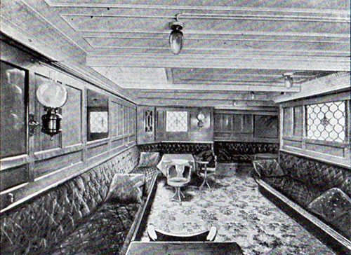 Second Cabin Ladies' Room, S.S. Hellig Olav and United States
