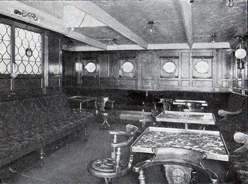Second Cabin Smoking Room, S.S. Oscar II, Hellig Olav and United States