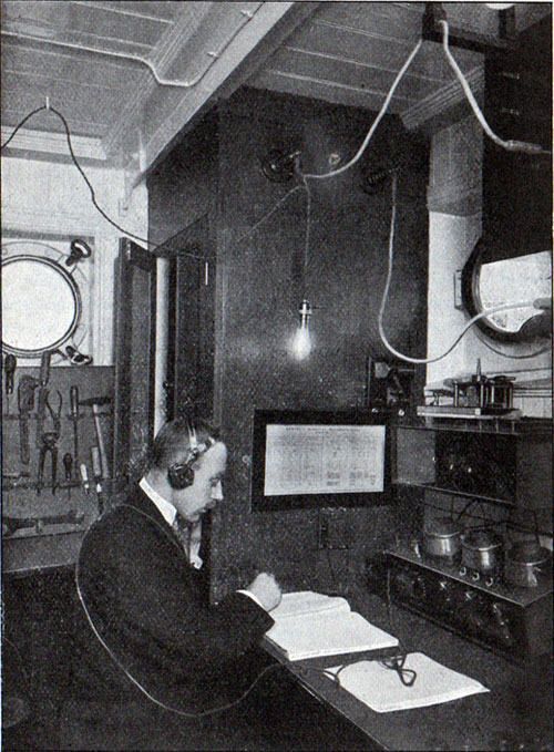 Telegraph Station on board a Steamship