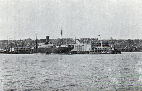 The Scandinavian American Line Docks in New York