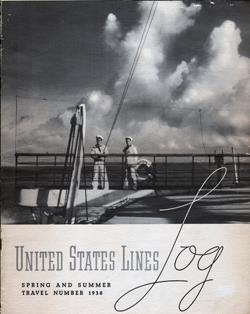 Front Cover United States Lines Log 1938