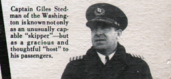 Captain Giles Stedman Of The Washington