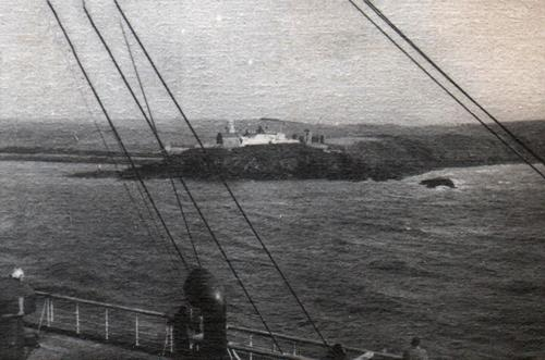 View of Roches Point Light Near Cobh (Queenstown) circa 1938.