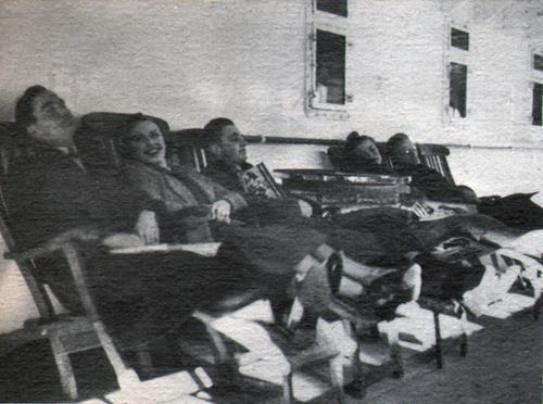 Passengers Relax On Comfortable Deck Chairs