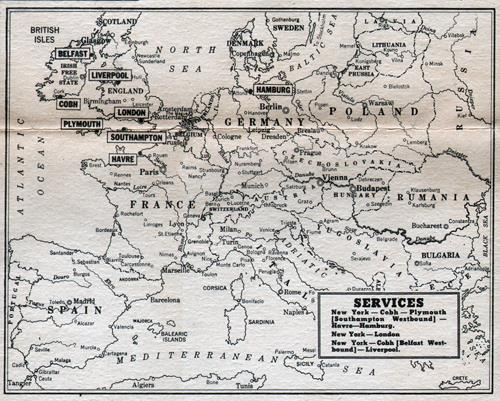 Map Of USL Services In Europe