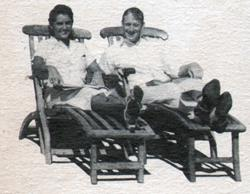 Mr And Mrs William Duncan Relax On Deck Chairs