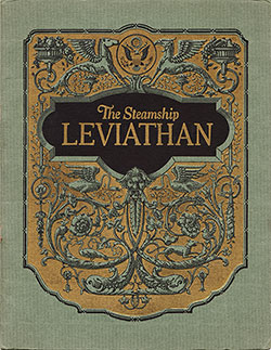 Front Cover of the 1923 Brochure - The Steamship Leviathan
