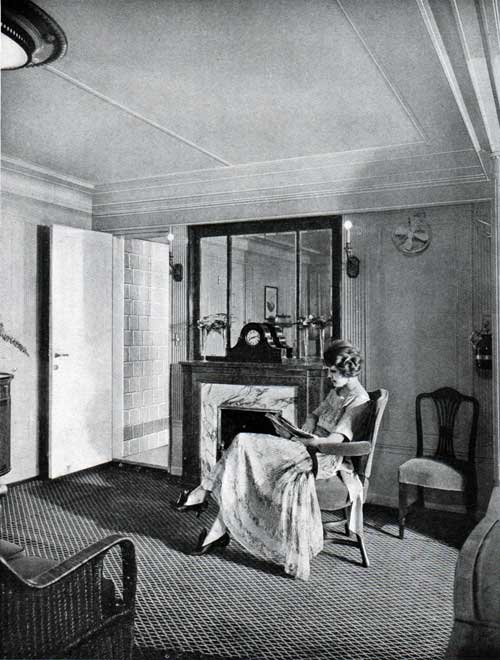 Woman Relaxing in her Suite