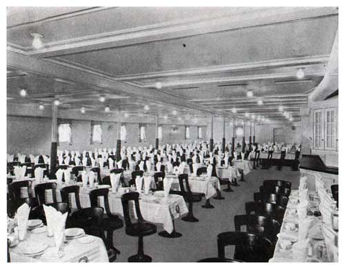 S. S. Leviathan—Dining Saloon—Third Class