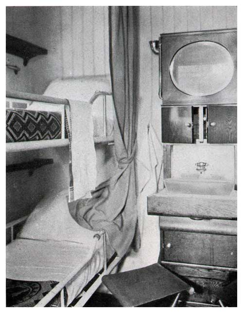 Two-Berth Stateroom, S. S. Leviathan—Third Class