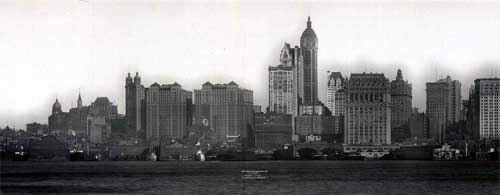 1910 New York Skyline Featuring the Singer Building