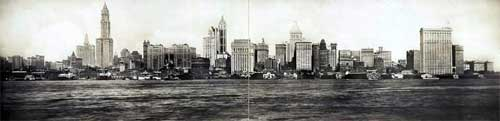 1913 New York City Skyline Featuring the New Woolworth Building