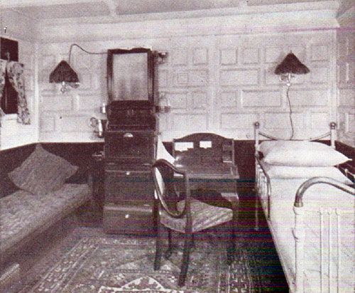A spacious single-bed stateroom