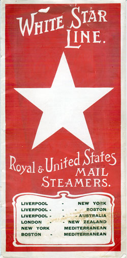 1907 White Star Line Brochure