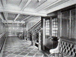 Entrance to Dining Saloon on the R.M.S. Republic