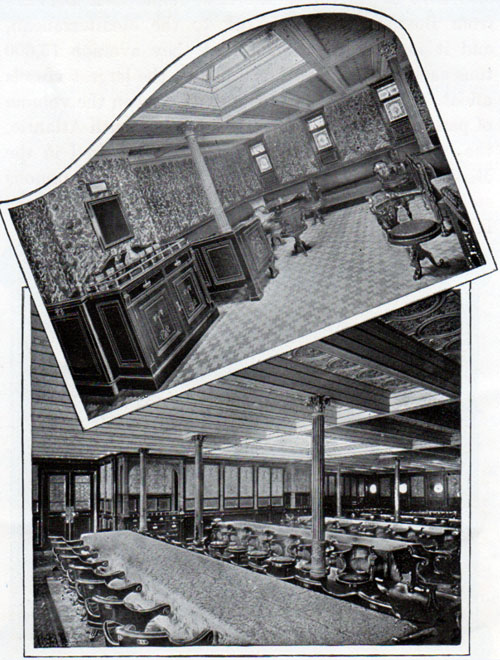 R.M.S. Oceanic Second Class Smoking Room and Dining Saloon
