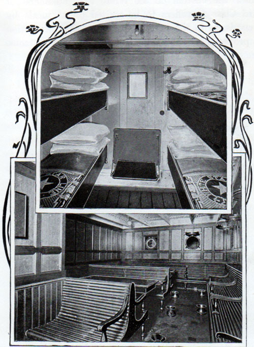 A Third Class 4-Berth Room, And Smoking Room